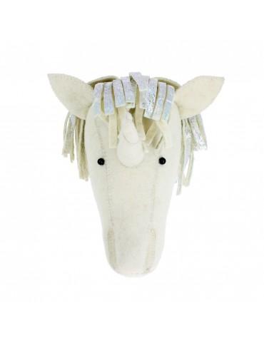 Cream Unicorn Head Wall Mount