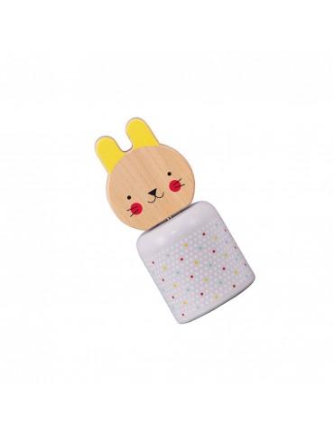 Wooden Clockwork Music Rabbit